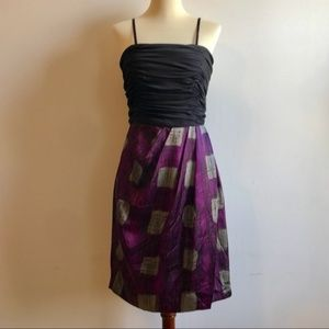 Strapless Purple Black and Silver Max & Cleo Dress